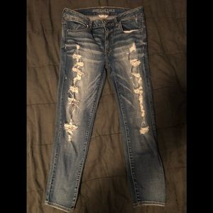 AEO mid rise jeggings ankle